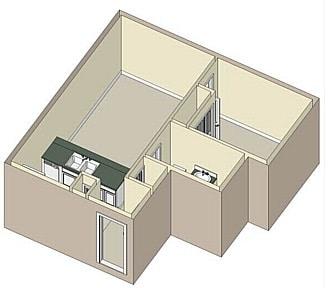 1 Bed / 1 Bath / 625 sq ft / Rent: $928