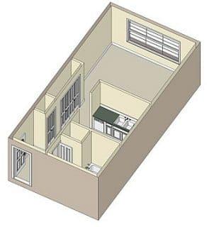 Studio / 1 Bath / 425 sq ft / Rent: $876