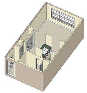 Studio / 1 Bath / 485 sq ft / Rent: $876